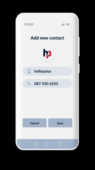 hellopaisa whatsapp step1 add contact