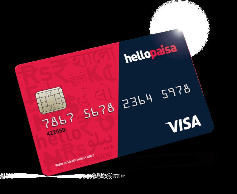 hellopaisa - VISA Banking Card